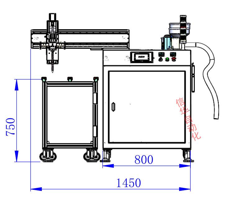 灌胶机尺寸图