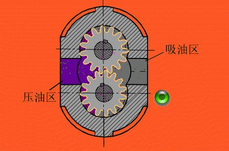 齿轮泵平面图