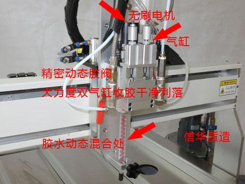 自动灌胶机机头部份介绍